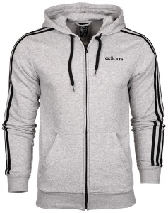 Bluza męska adidas Essentials 3 Stripes FZ French Terry DU0473