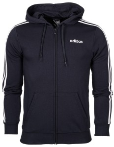 Bluza męska adidas Essentials 3 Stripes FZ French Terry DU0471